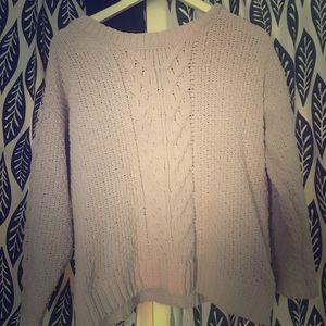 Sweaters - Pink Blush Aran style sweater